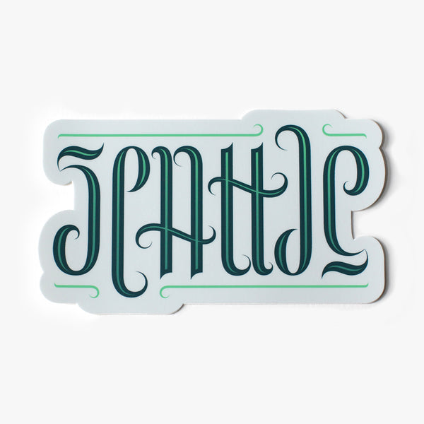 Seattle Ambigram Sticker