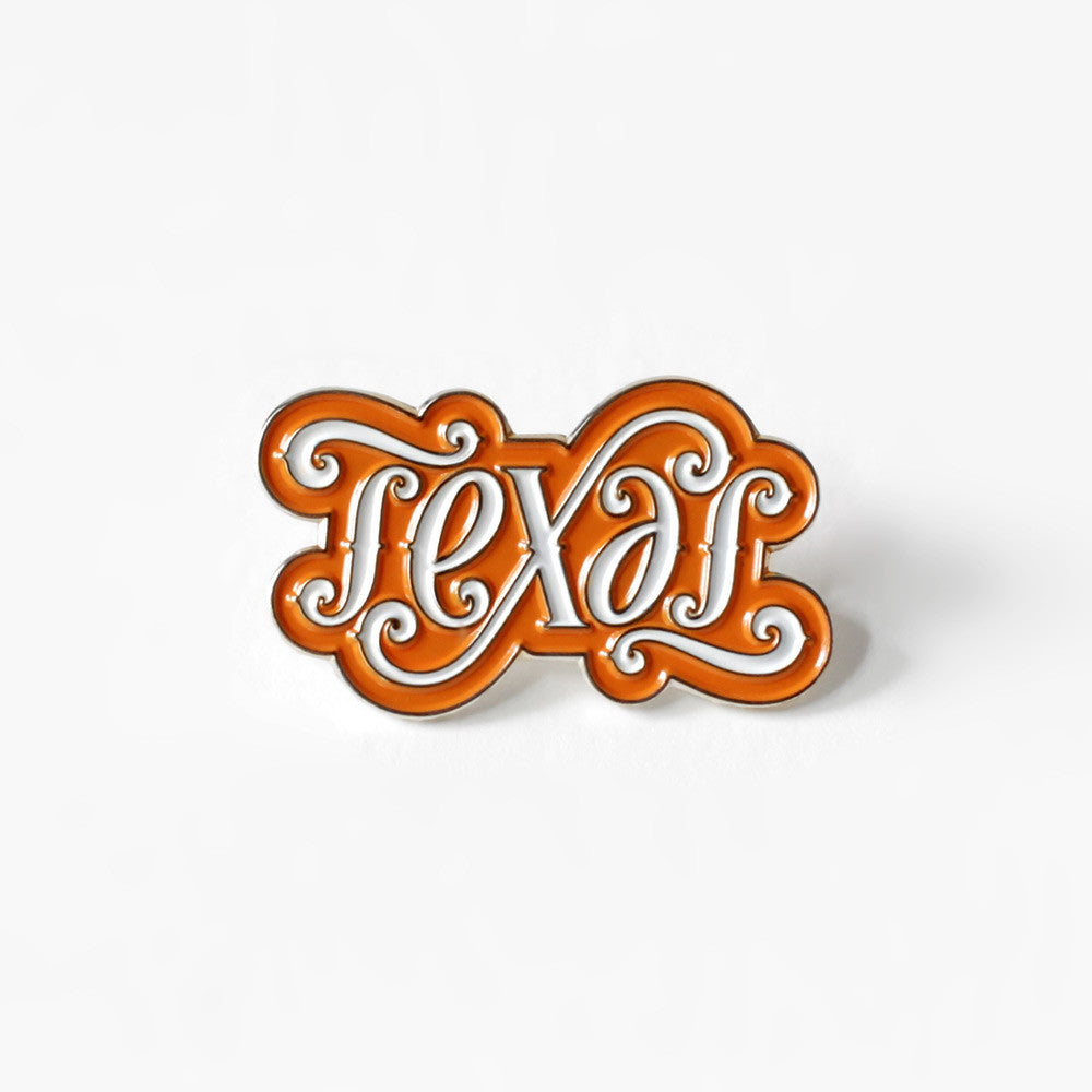 Texas Ambigram Pin