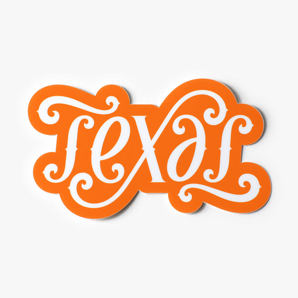 Texas Ambigram Sticker