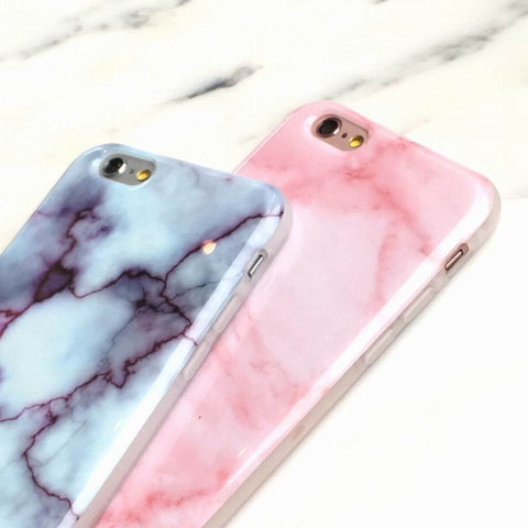 MarbleCase™ - Pink and Blue Marble iPhone Cases