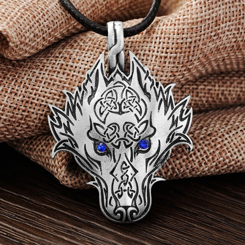 WinterWolf™ - Blue Fire Wolf Necklace