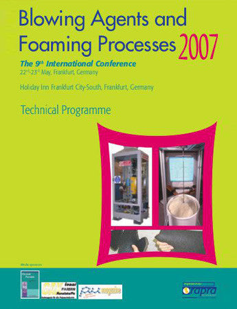 Blowing Agents and Foaming Processes 2007
