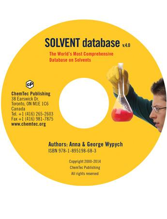 Solvents Database (CD) v.4.0