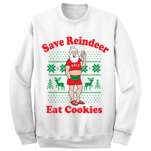 HaHa Holiday Vegan Santa Sweater