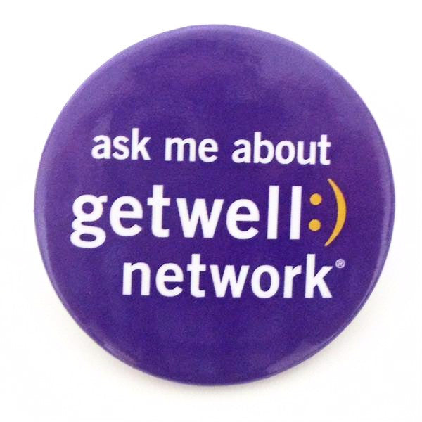 Pack of Ask Me About GetWellNetwork Buttons