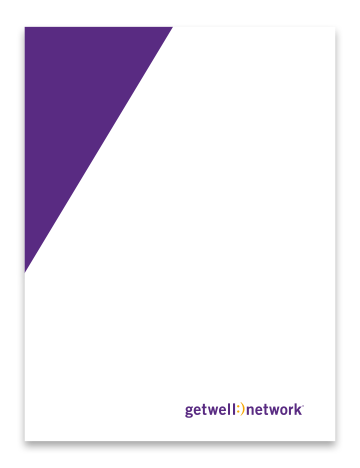 "GetWellNetwork 9""x12"" two pocket folder with business card insert"