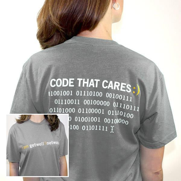 Code that Cares Tee in Grey
