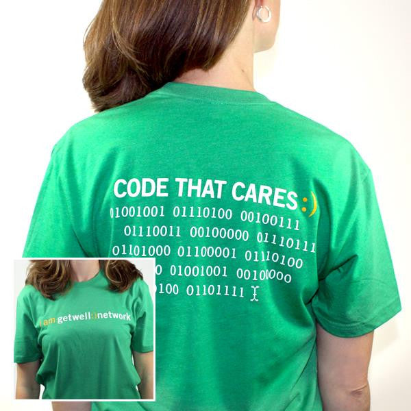 Code that Cares Tee in Green