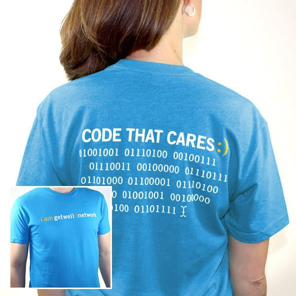 Code that Cares Tee in Turquoise