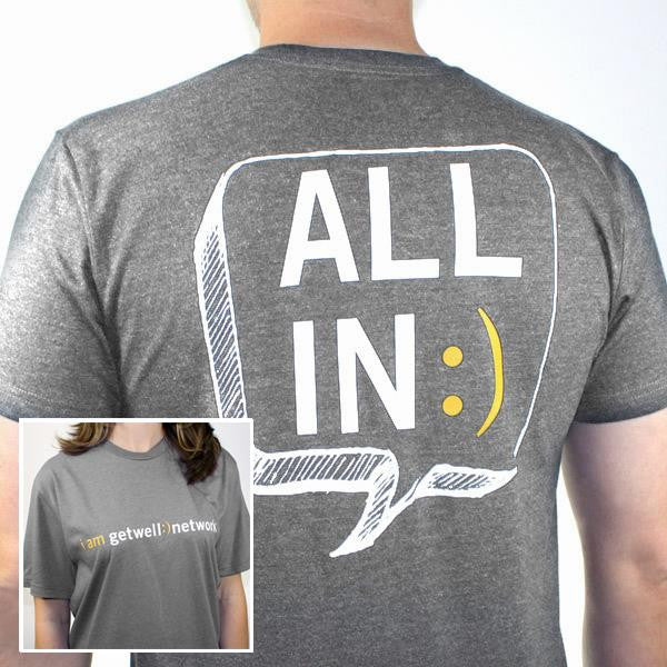 All In :) Tee in Grey