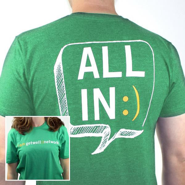 All In :) Tee in Green