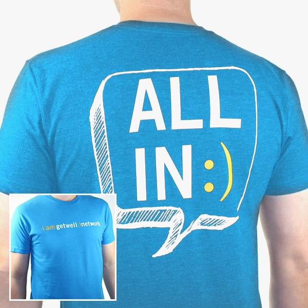 All In :) Tee in Turquoise