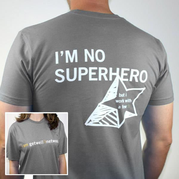 I'm No Superhero Tee in Grey