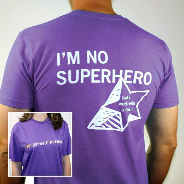 I'm No Superhero Tee in Purple