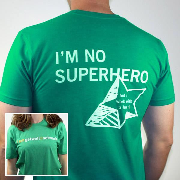 I'm No Superhero Tee in Green