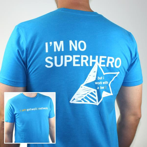 I'm No Superhero Tee in Turquoise