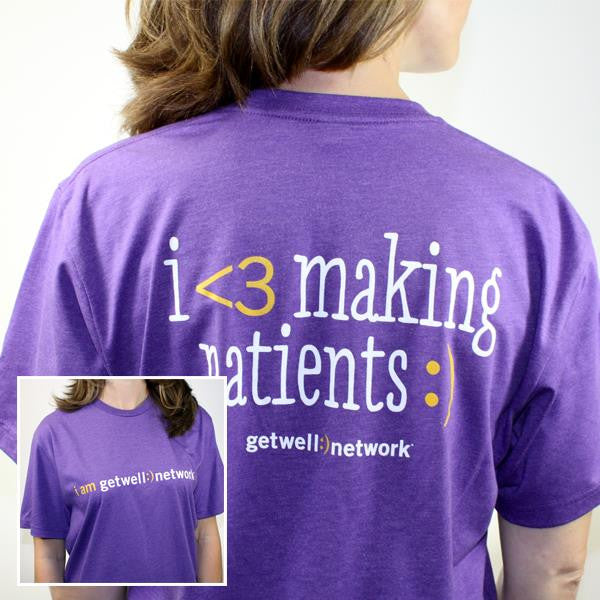 I <3 Making Patients :) Tee in Purple