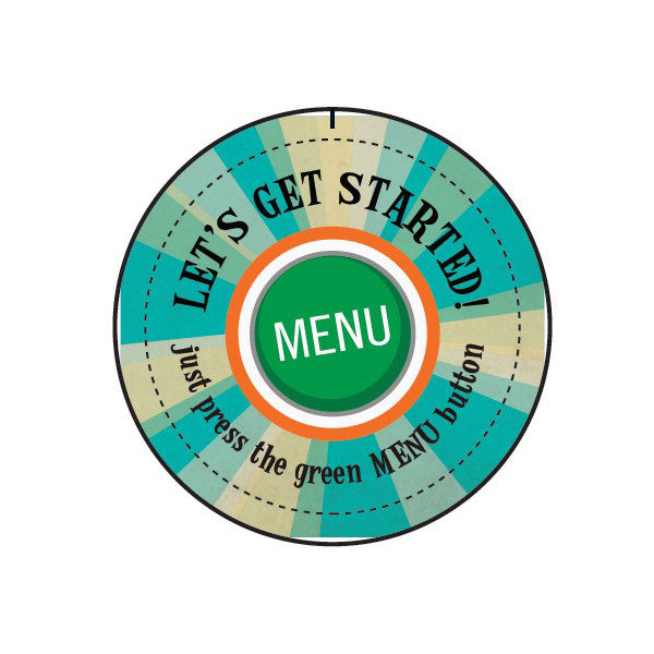 "Pack of ""Let's Get Started"" Buttons"