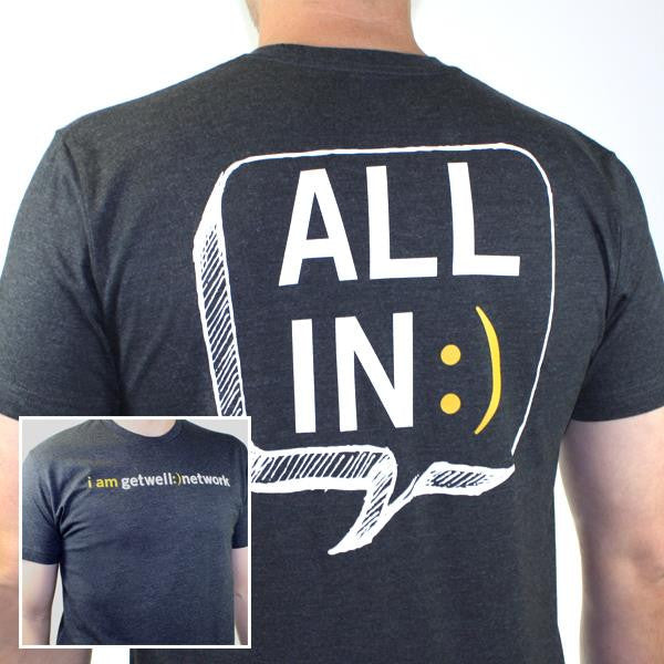 All In :) Tee in Charcoal Grey