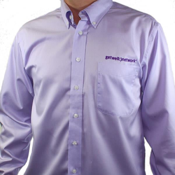 Men's Red House Button Down Shirt in Lavender
