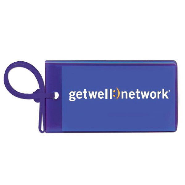 GetWellNetwork Purple Luggage Tags
