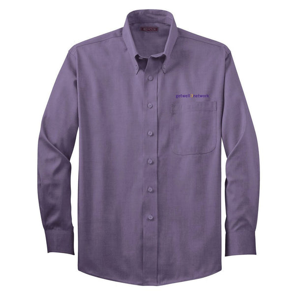 Men's Red House Button Down Shirt in Purple Dusk
