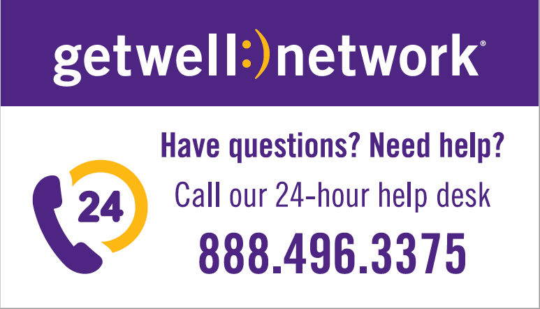 GetWellNetwork Help Desk Vinyl Decals
