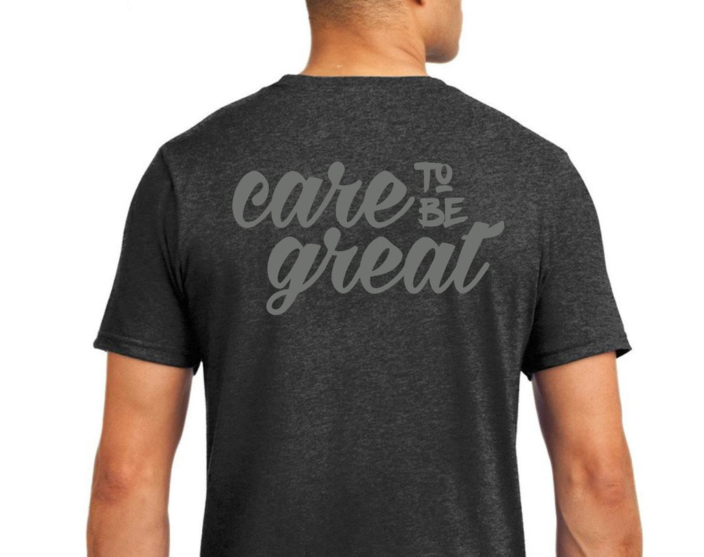 Care to Be Great Tee in Heather Dark Grey