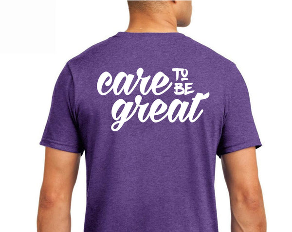 Care to Be Great Tee in Heather Purple