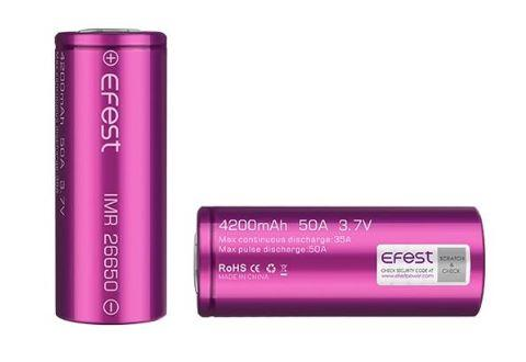 EFEST 26650 4200MAH 50A BATTERIES