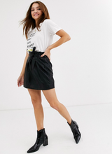 Load image into Gallery viewer, Free People Payton Paperbag Waist Faux Leather Miniskirt