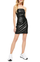 Load image into Gallery viewer, Free People Faux Leather Mini Dress