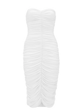 Load image into Gallery viewer, Norma Kamali Strapless Ruched Dress