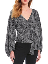 Load image into Gallery viewer, Michael Kors  Snake Skin Wrap Top