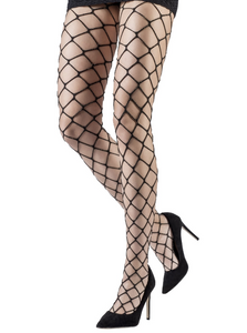 Emilio Cavallini Metallic Oversized Fishnet Tights