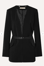Load image into Gallery viewer, Michael Kors Black Belted Crepe Blazer
