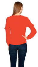 Load image into Gallery viewer, Velvet Tees Dane Ruffle Cashmere Sweater