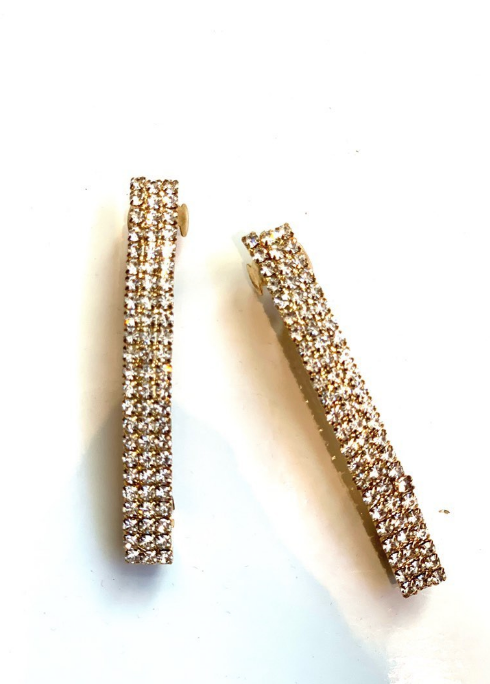 Klassified Rose Gold Rhinestone Hair Clip