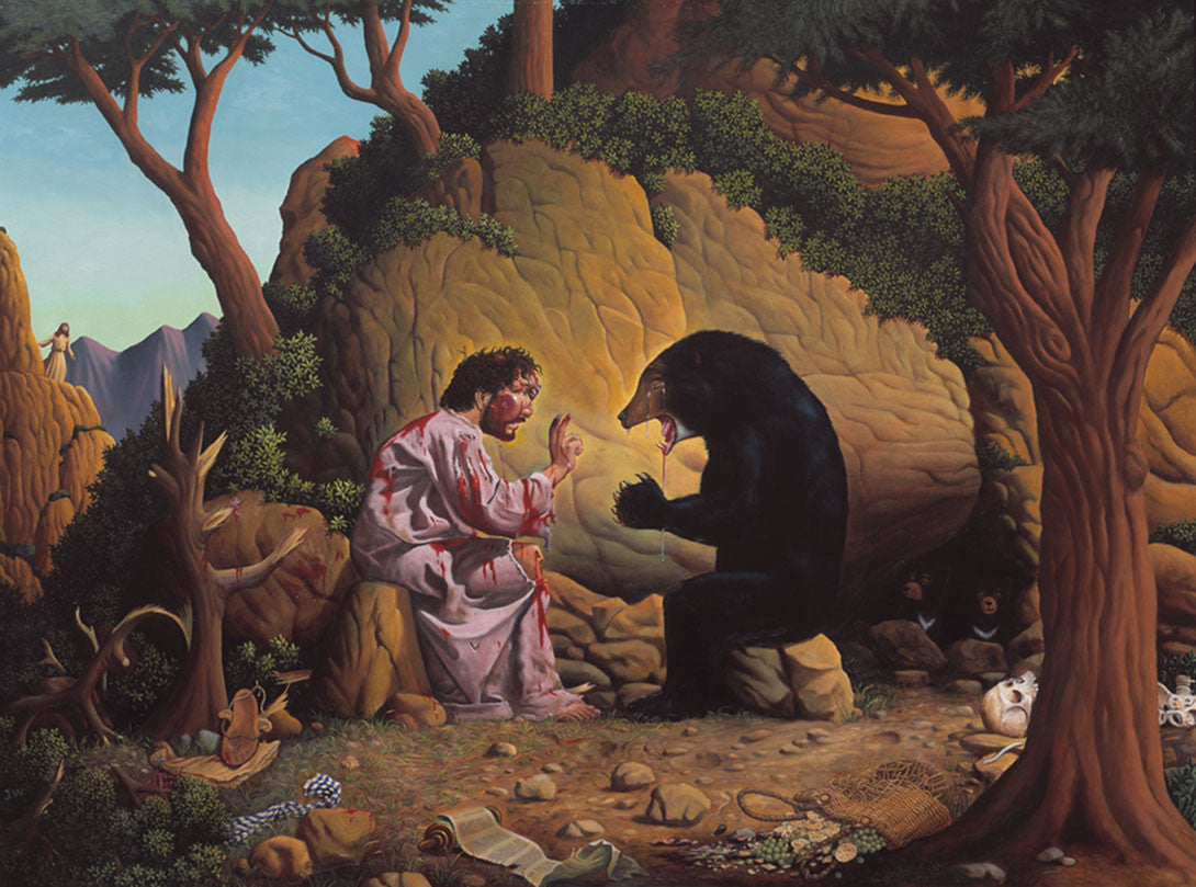 Jesus and the Bear Print