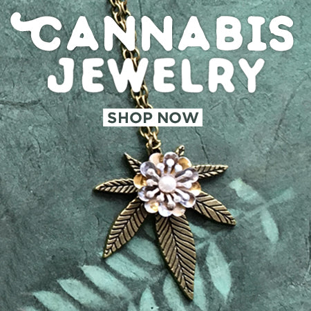 cannabis jewelry weed necklace marijuana gifts