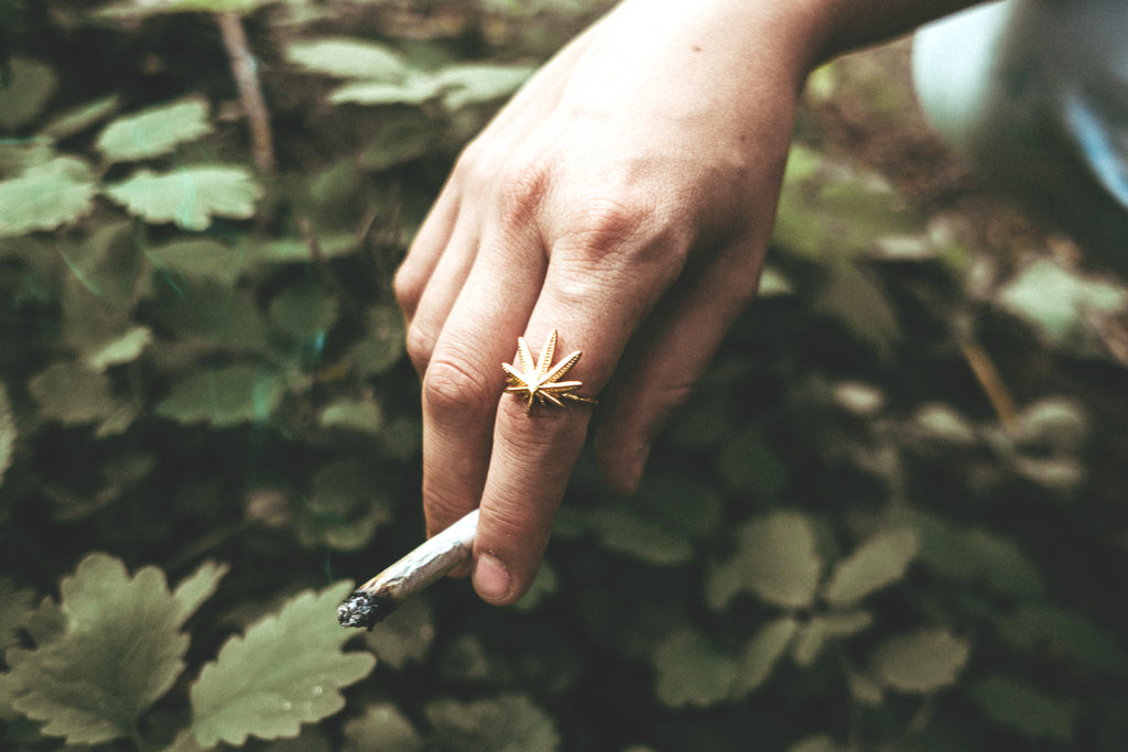 Gold Cannabis Ring