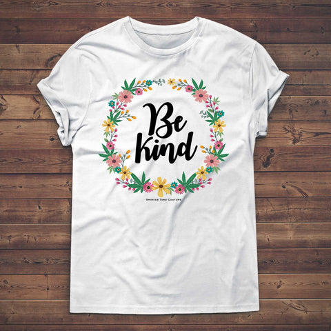 be kind cannabis t shirt for women
