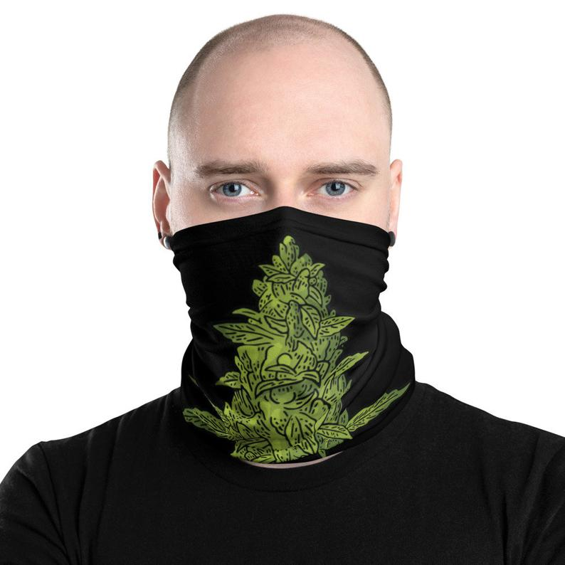 Weed Face Mask - Big Bud Cannabis Neck Gaiter