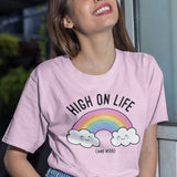 High on Life and Weed  - Cute Kawaii T Shirt - Pastels