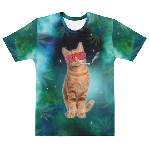 Stoner Cat Galaxy Funny Weed T Shirt