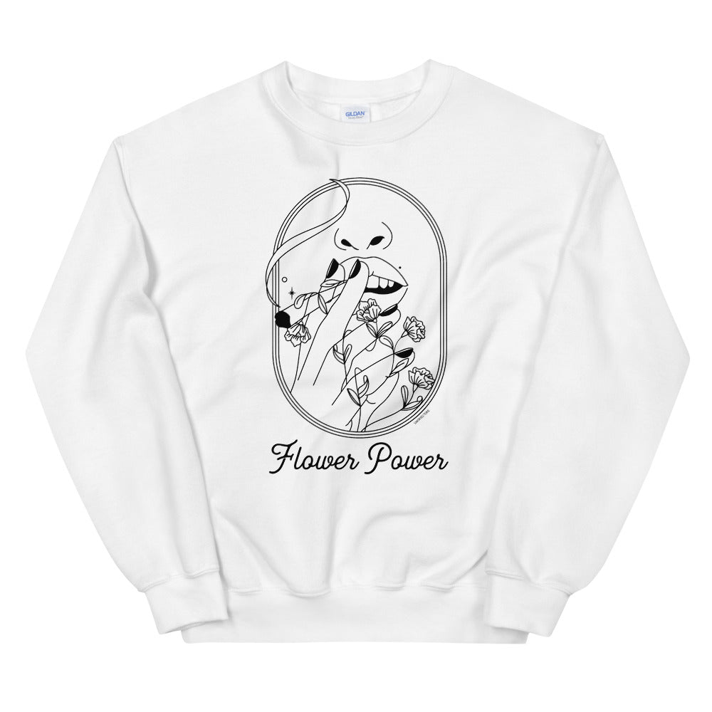 Flower Power Cute Weed Minimalist Sweatshirt