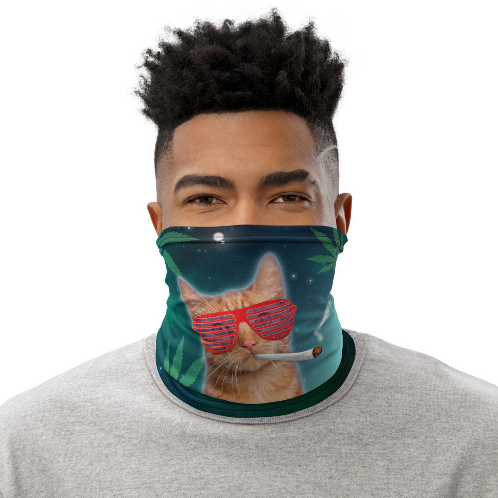 Weed Face Mask - Stoner Cat Neck Gaiter