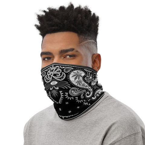 Weed Face Mask - Black Bandana Neck Gaiter