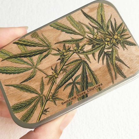 cannabis tin weed tin stash box