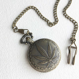 vintage weed pocketwatch weed wedding gift